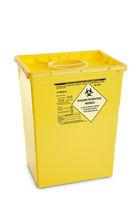 Kunststoffabfallbehälter / für medizinische Abfälle / mit Deckel