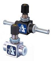 Nadelventil / Durchsatzkontrolle / Absperr / für Luft