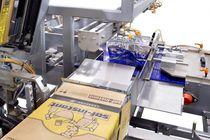 Seitlicher Kartonpacker / automatisch / für Schlauch / Hotmelt-Klebstoff