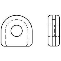 Gummi-Kabeldurchführung / offen / U-Profil