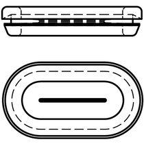 Gummi-Kabeldurchführung / offen / für Langloch