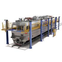 Arbeitsplattform / mit großer Reichweite / für Schienenfahrzeuge
