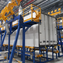 Montagearbeitsplatz für Kühltransport LKW