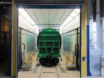 Lackierkabine zur Anwendung im Eisenbahnbereich