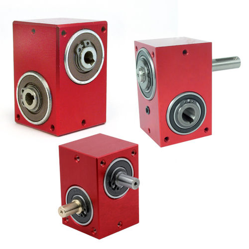 90°-Winkelgetriebe / Hohlwelle / mit Ausgangswelle / Aluminium