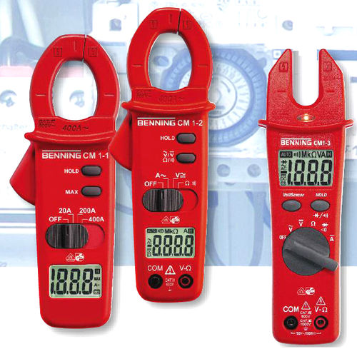 digitales Stromzangen-Multimeter / tragbar / 400 A