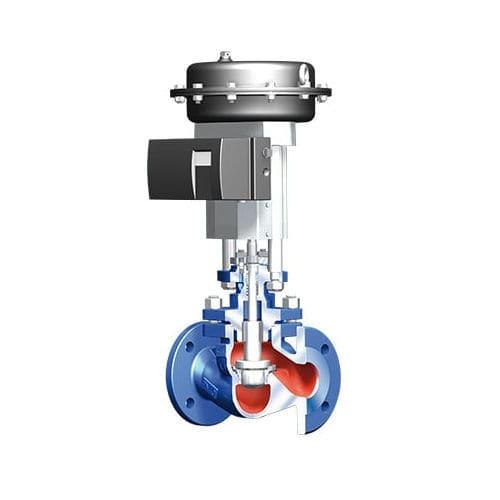 Steuerventil / Kugelsitz / elektrisch betätigt / pneumatisch gesteuert