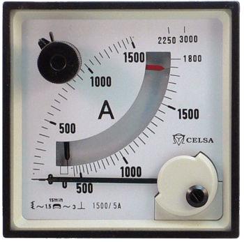 AC-Amperemeter / Analog / plattenmontiert / Maximeter