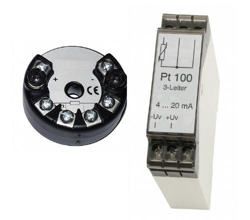 Temperaturmessumformer für DIN-Schienen / am Sondenkopf / Pt100 / 4-Leiter