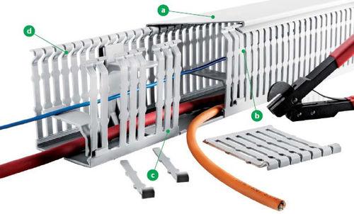 Kabelkanal / PVC / Mini- und Sockelleisten / modular