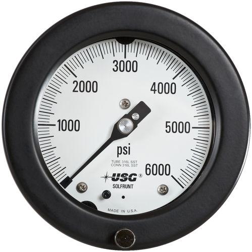 analoges Manometer / Rohrfeder / Prozess / Vakuum