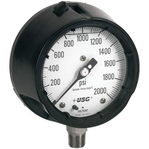 analoges Manometer / Rohrfeder mit Flüssigkeitsfüllung / Prozess / Vakuum