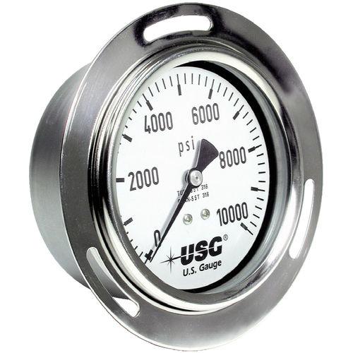 analoges Manometer / Rohrfeder mit Flüssigkeitsfüllung / Prozess / für die Lebensmittelindustrie