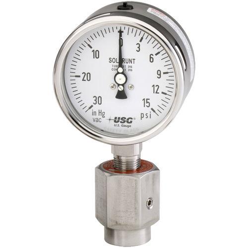 analoges Manometer / Rohrfeder mit Flüssigkeitsfüllung / Prozess / Edelstahl
