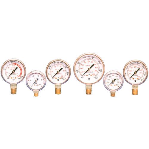 analoges Manometer / Rohrfeder / Prozess / für Druckgas