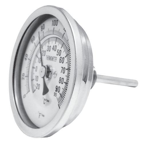 Bimetall-Thermometer / analog / zum Einschrauben / Edelstahl