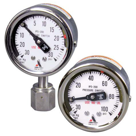 analoges Manometer / Rohrfeder