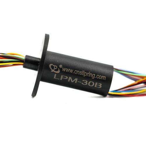 Schleifring zur Leistungs- und Signalübertragung / Kapsel / für Videoüberwachungsanwendung / Gold