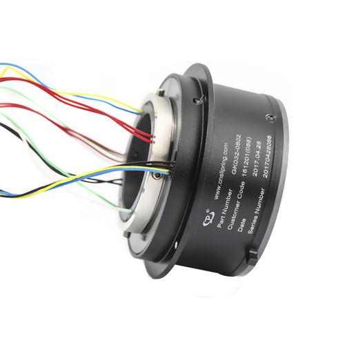 elektrischer Schleifring / Hohlwelle / Aluminium / Modul
