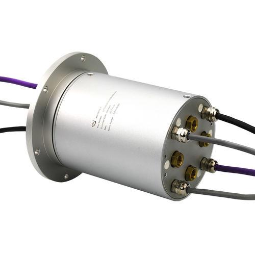elektro-pneumatischer Schleifring / Vollwellen / für Industrieanwendungen / aus anodisiertem Aluminium