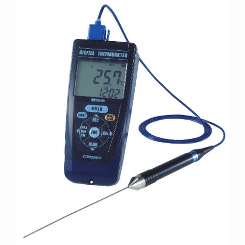 Thermometer mit Datenerfassung / mit Thermoelement / Pt100 / mit LCD-Display