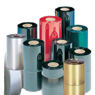 Thermotransferband für Etikettendrucker / auf Wachs Basis / auf Harzbasis