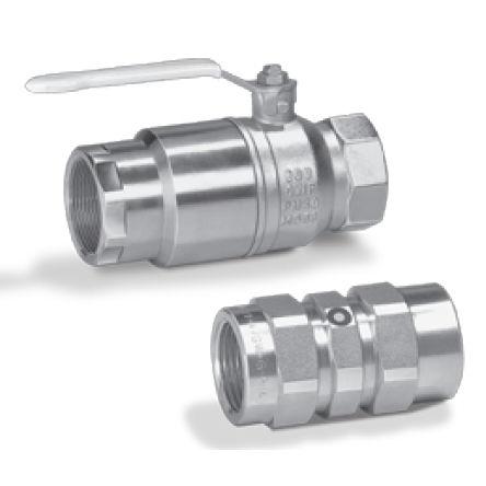 Handventil / Kugel / zum Absperren / für Gas