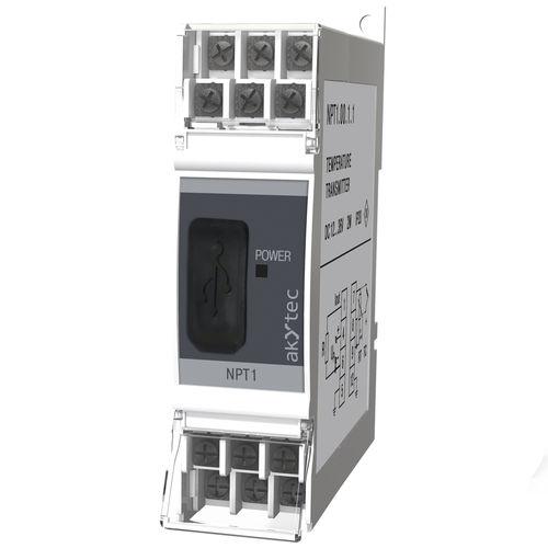 Temperaturmessumformer für DIN-Schienen / RTD / Thermoelement / USB