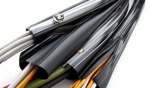 Sicherheitshülle / Rohr / für Kabel / PVC