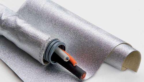 Thermoschutzhülle / flach / für Elektrokabel / mit Reißverschluss