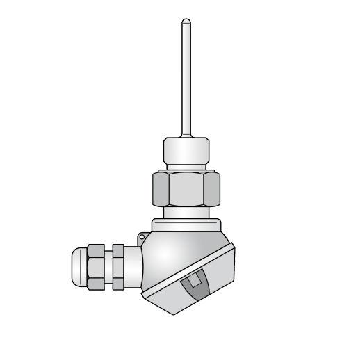 Eintauchfühler-Temperatursensor / Nickel / Tauch / zur Messung der Oberflächentemperatur