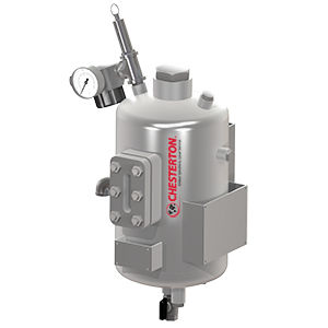 Metallbehälter / Druck / vertikal / Druck