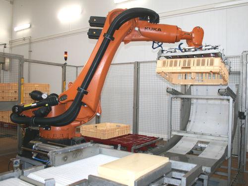 Palettierer und Depalettierer / Roboter / für Käse / Kisten / automatisch