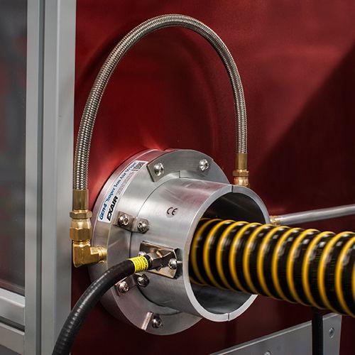 Air Wipe / für Kabel / für Rohre / kreisförmig / Aluminium