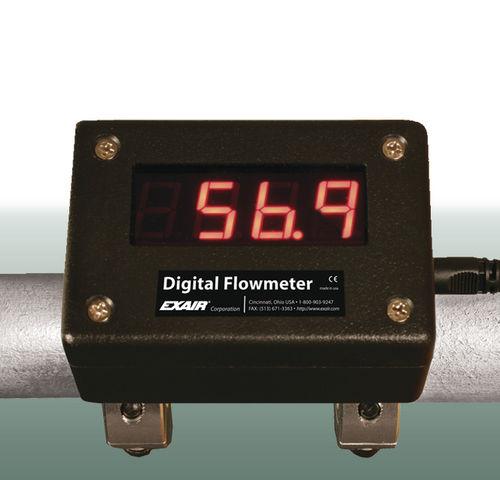 Druckluft-Durchflussmesser / digital / clamp-on