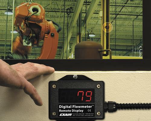 Durchflussanzeigegerät für Luft / mit LED-Display / Fern