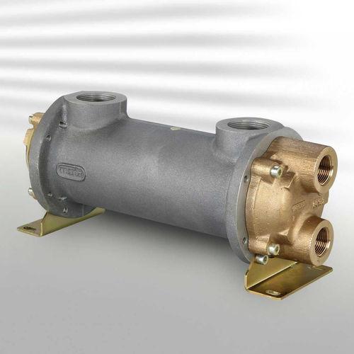 Rohrbündel Wärmetauscher / Wasser/Wasser / Kupfer / Nickel