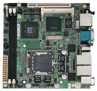 Mini-ITX-Mainboard / Intel® Core 2 Quad / Intel 945G / DDR2 SDRAM MBC-6226 AICSYS Inc