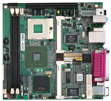 Mini-ITX-Mainboard / Intel® Core™ 2 Duo / Intel 945G / DDR2 SDRAM MBC-4222 AICSYS Inc