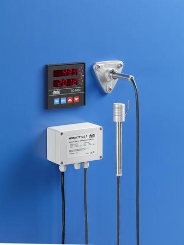 Relativ-Feuchtetransmitter / für Wandmontage / absolut / mit Temperaturmessung