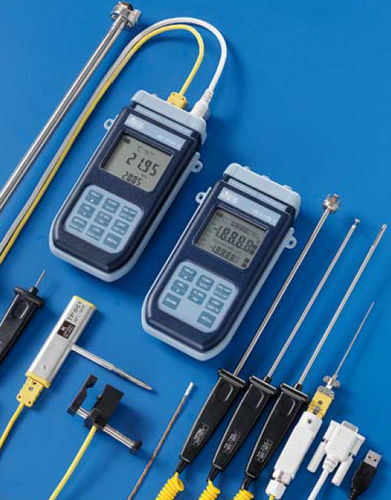 Thermometer mit Thermoelement / digital / tragbar / mit integriertem Drucker