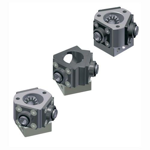 Kegelrad-Winkelgetriebe / Hohlwelle / 90° / Stahl