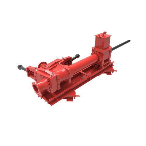 Schlammpumpe / 1 Kolben / Industrie / Rohr