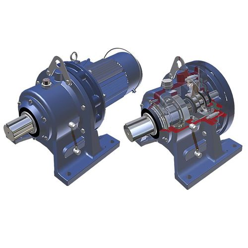 einphasiger Elektrogetriebemotor / Koaxial / Räderwerk / kompakt