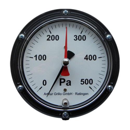 Manometer mit Zifferblatt-Anzeige / Membran / für Luft / für neutrale Gase