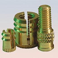 Gewindeeinsatz / Metall / rund / für Kunststoff