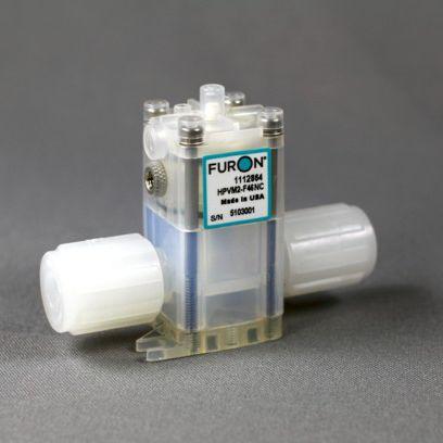 Membranventil / pneumatisch gesteuert / für Chemikalien / PTFE