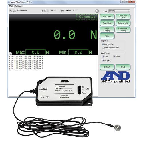 USB-Wägezelle / Druckkraft / Knopf