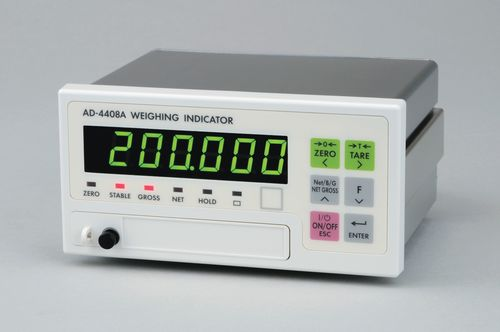 LED-Display-Wägeindikator / einbaufähig / IP65 0.15µV/d | AD-4408A A&D COMPANY, LIMITED