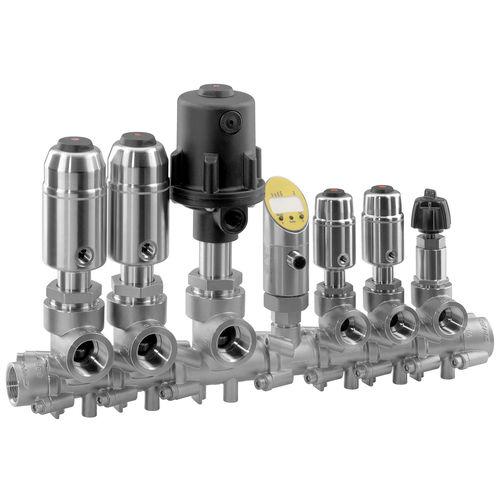 Modular-Ventil / Kugelsitz / manuell / pneumatisch